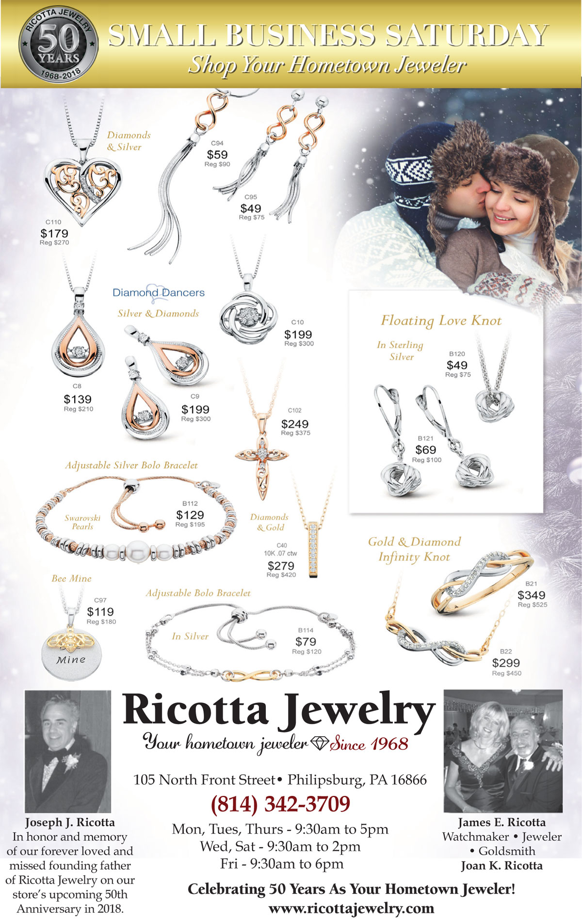 50 years hometown jeweler Jim Ricotta
